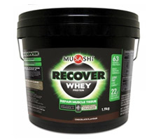 #7 Best Protein Powder - Musashi Recover Whey Protein Container